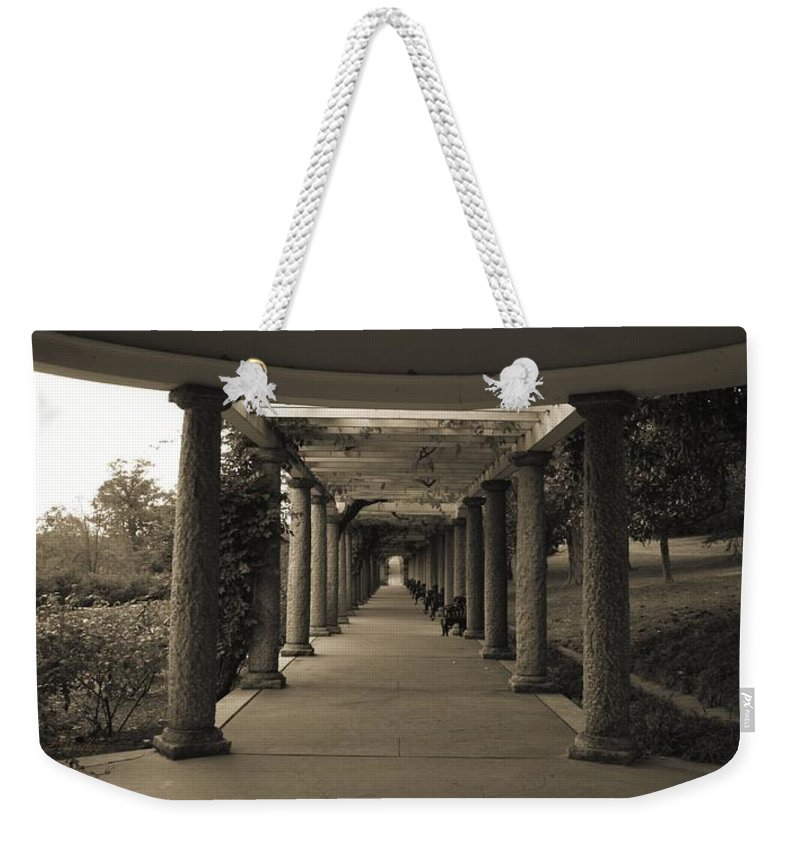 Maymont Weekender Tote Bag featuring the photograph Maymont's Italian Garden by Tina Meador