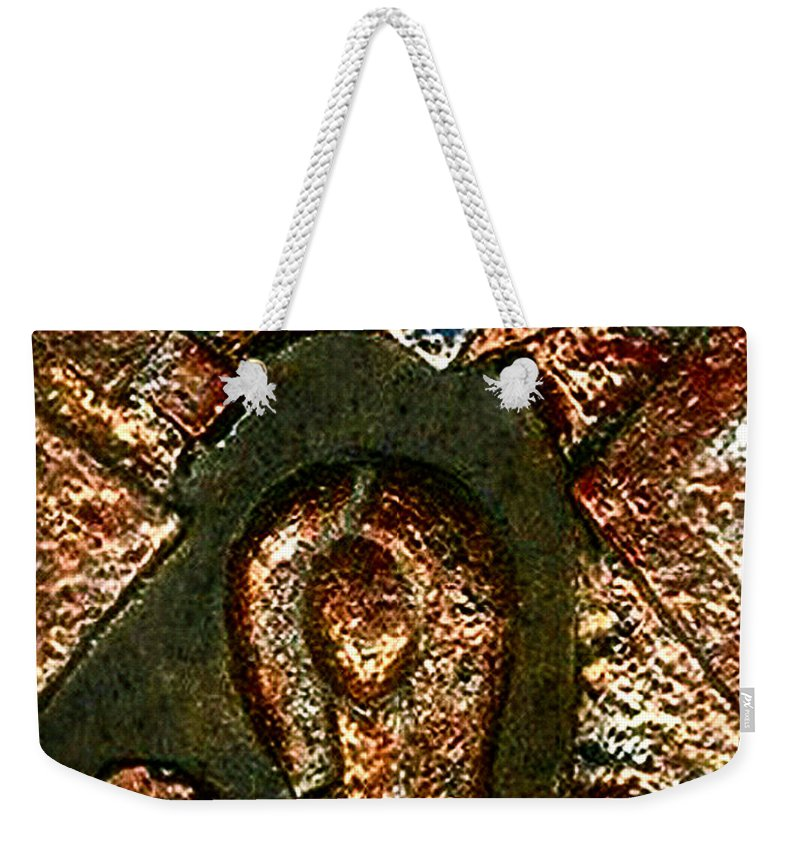 Ceramic Weekender Tote Bag featuring the relief Maze Of Memories by Madalena Lobao-Tello