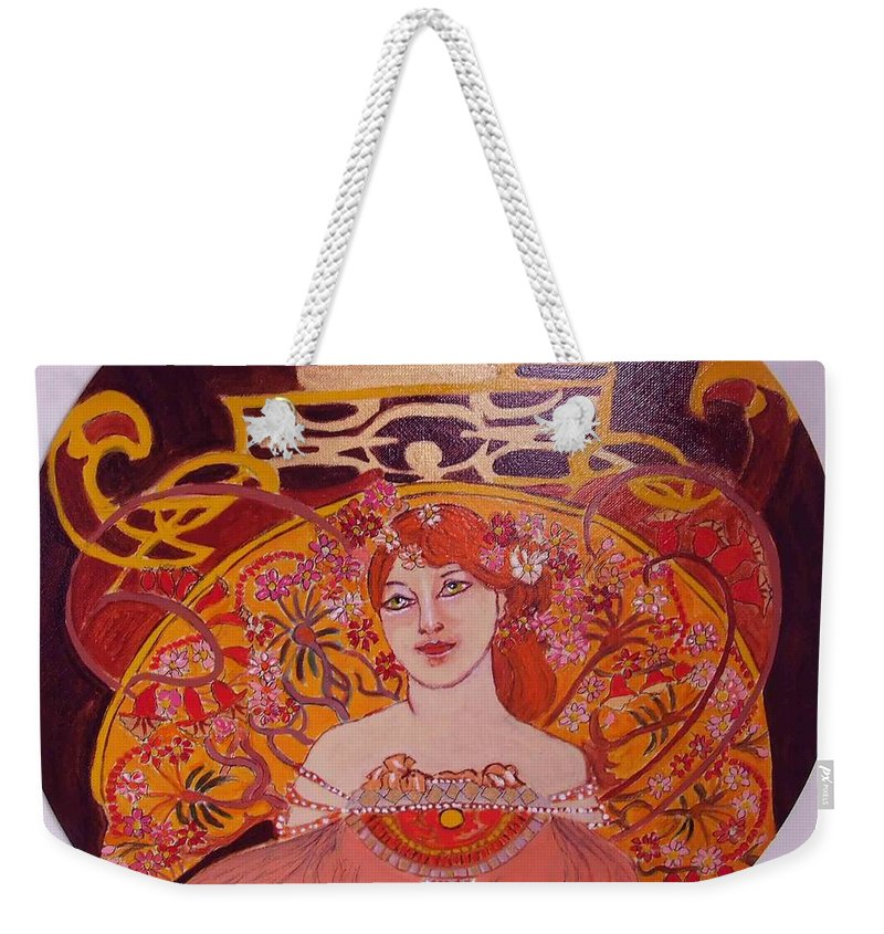 A|rt Nouveau Weekender Tote Bag featuring the painting Mazurka by Rusty Gladdish