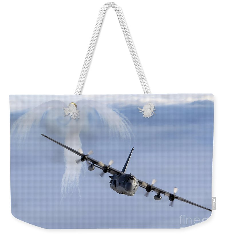 Mc-130 Weekender Tote Bag featuring the photograph Mc-130h Combat Talon by Gert Kromhout
