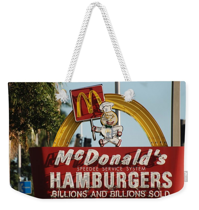 Mcdonalds Weekender Tote Bag featuring the photograph Mc Donalds by Rob Hans