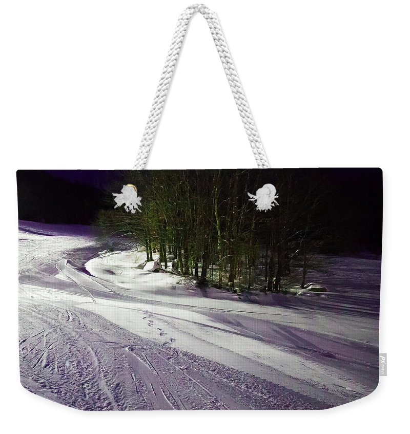 Mccauley Evening Snowscape Weekender Tote Bag featuring the photograph Mccauley Evening Snowscape by David Patterson