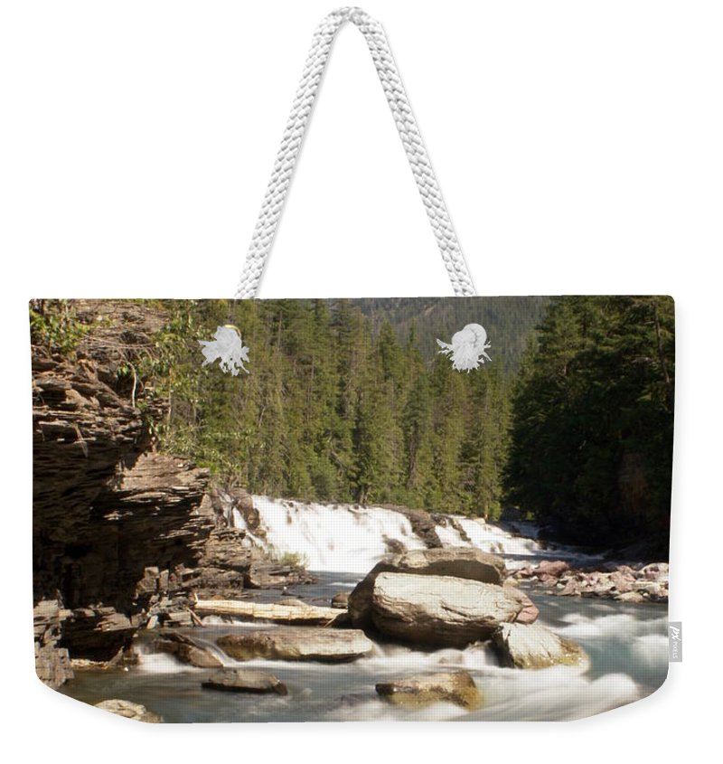 Stream Weekender Tote Bag featuring the photograph Mcdonald Creek by Marty Koch