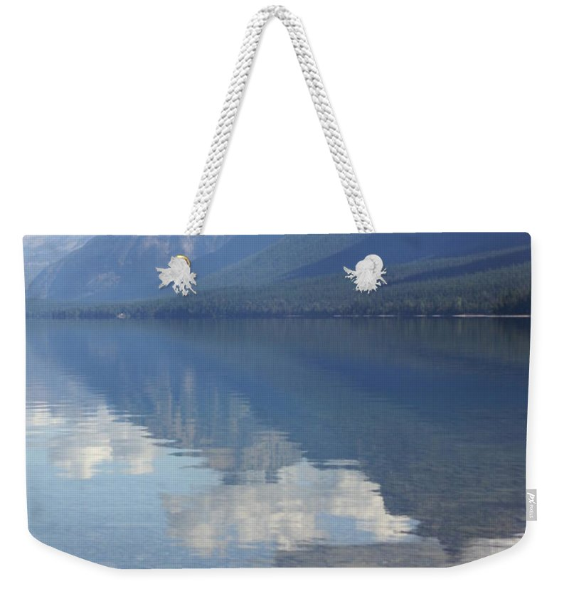 Lake Mcdonald Weekender Tote Bag featuring the photograph Mcdonald Reflection by Marty Koch