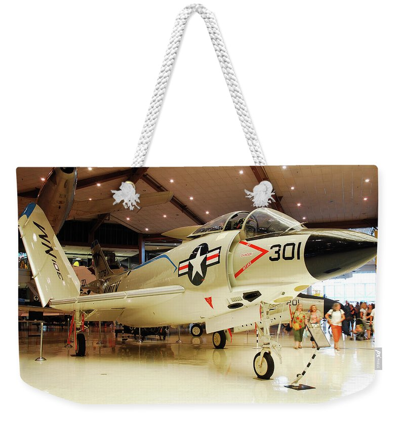 Pensacola Weekender Tote Bag featuring the photograph Mcdonnell F3h Demon by James Kirkikis