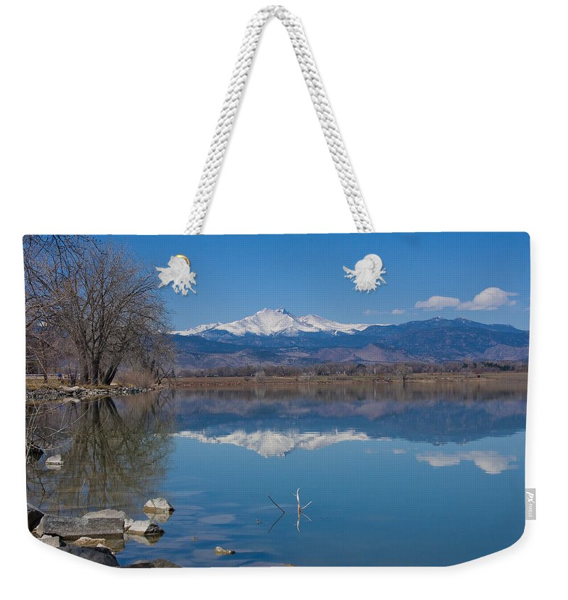 Lake Weekender Tote Bag featuring the photograph Mcintosh Lake Reflections by James BO Insogna