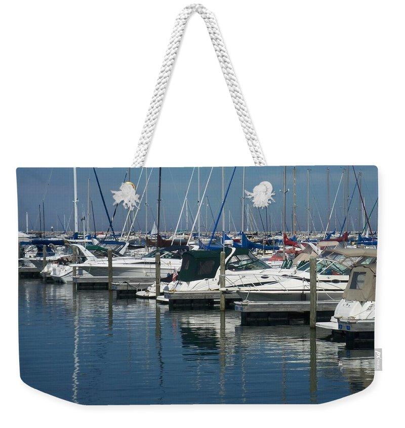 Mckinley Marina Weekender Tote Bag featuring the photograph Mckinley Marina 2 by Anita Burgermeister