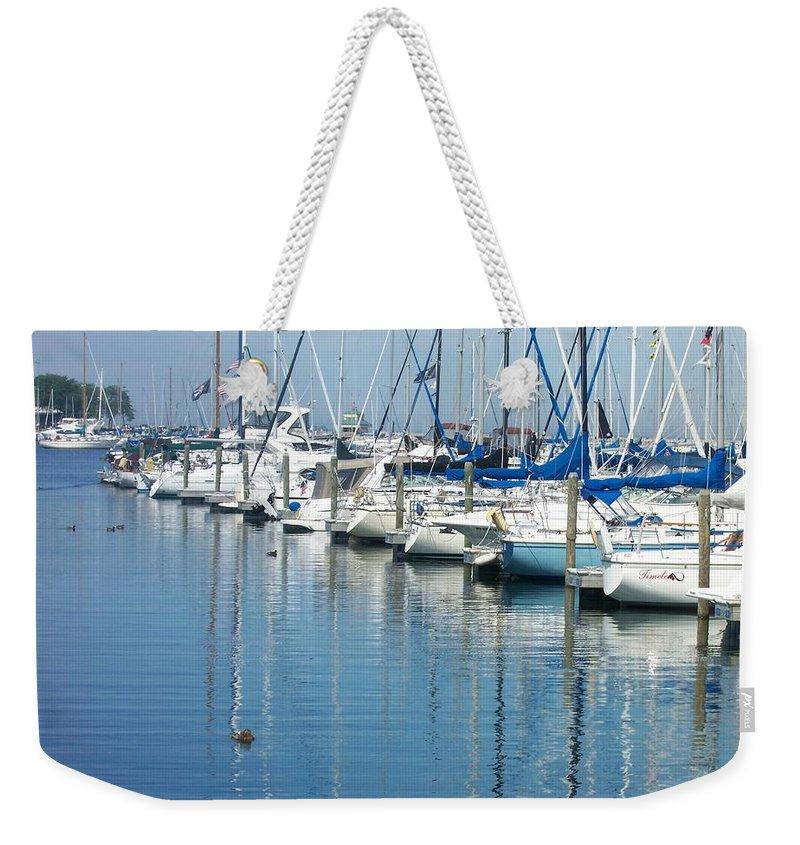 Mckinley Marina Weekender Tote Bag featuring the photograph Mckinley Marina 3 by Anita Burgermeister