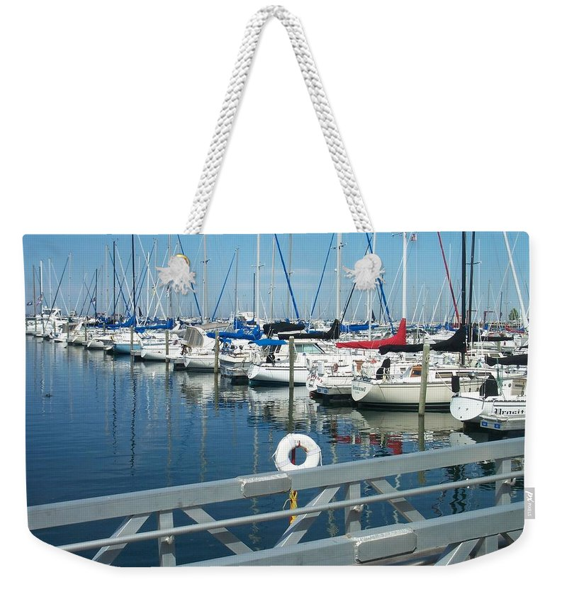 Mckinley Marina Weekender Tote Bag featuring the photograph Mckinley Marina 4 by Anita Burgermeister