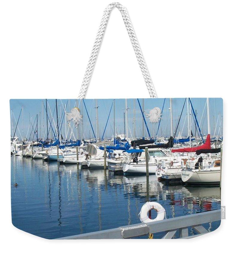 Mckinley Marina Weekender Tote Bag featuring the photograph Mckinley Marina 5 by Anita Burgermeister