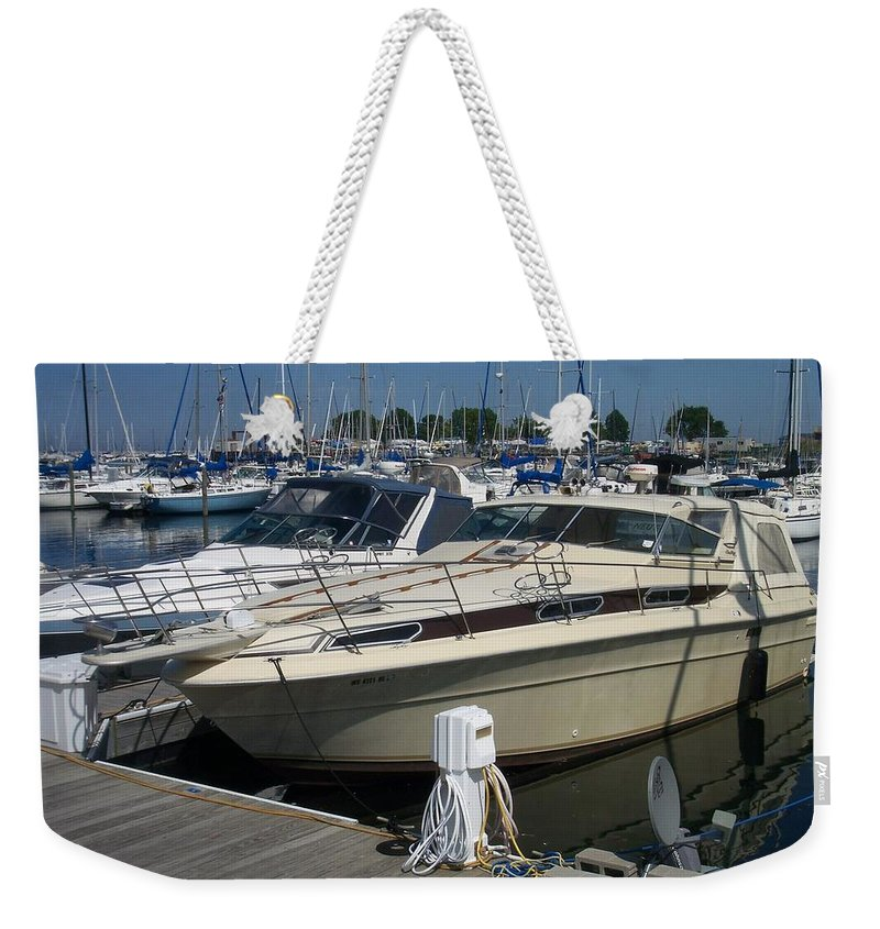 Mckinley Marina Weekender Tote Bag featuring the photograph Mckinley Marina 7 by Anita Burgermeister