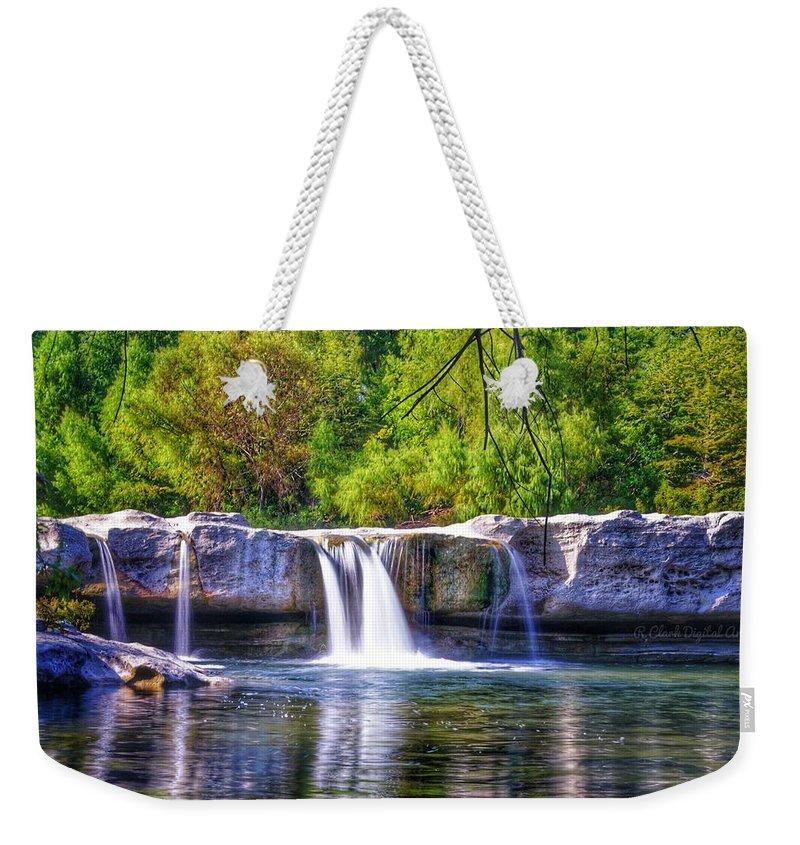 Austin Tx Weekender Tote Bag featuring the digital art Mckinney Falls by Robert Clark