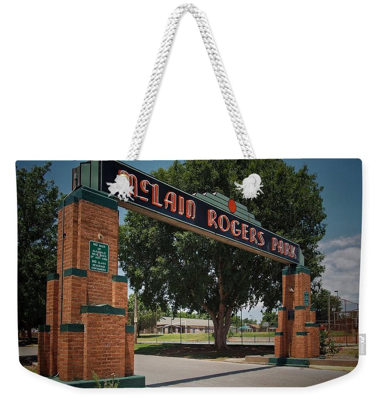 Entrance Weekender Tote Bag featuring the photograph Mclain Rogers Entrance by Buck Buchanan