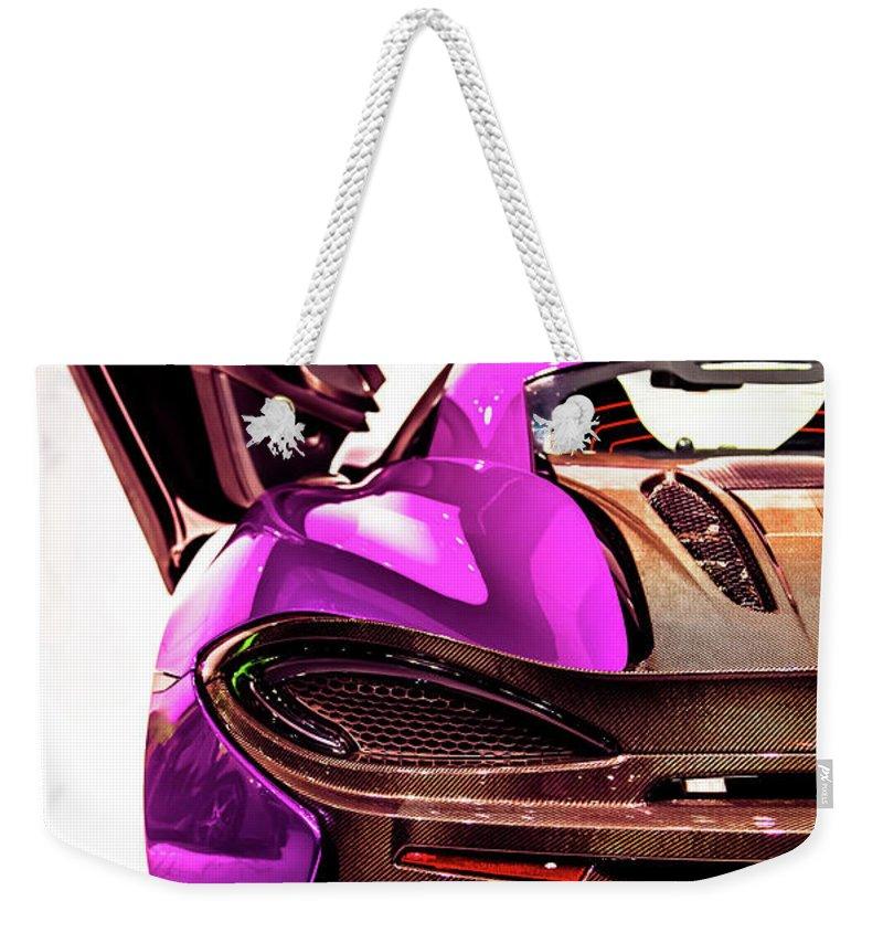 Mclaren Weekender Tote Bag featuring the photograph Mclaren by Karen Wiles