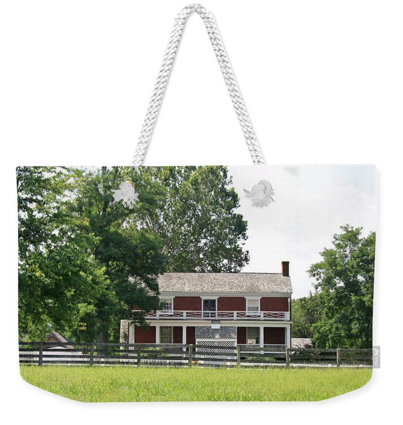 Appomattox Weekender Tote Bag featuring the photograph Mclean House Appomattox Court House Virginia by Teresa Mucha
