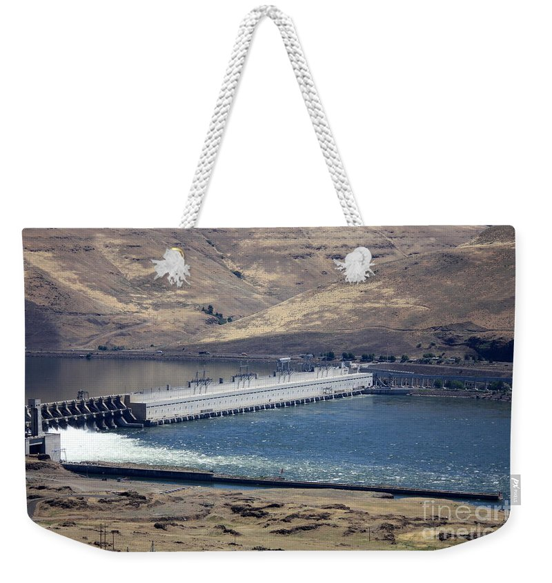 Washington State Weekender Tote Bag featuring the photograph Mcnary Dam by Carol Groenen