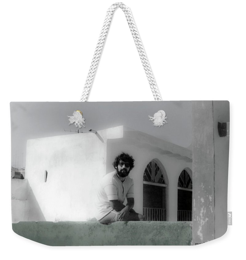 Weekender Tote Bag featuring the photograph me by Mark Alesse