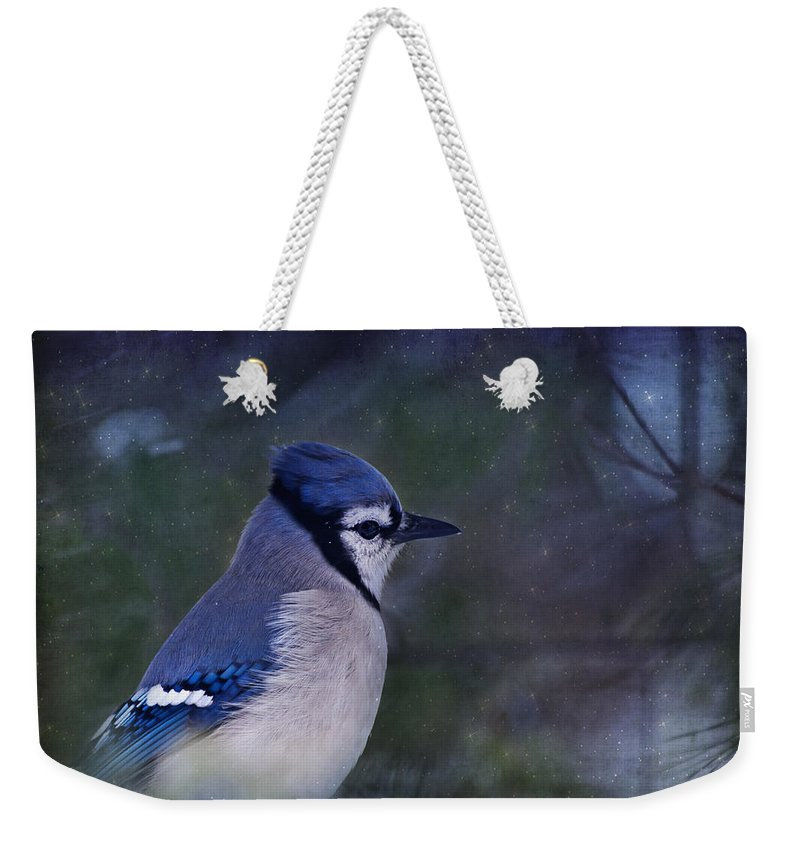 Blue Weekender Tote Bag featuring the photograph Me Minus You - Blue by Evelina Kremsdorf