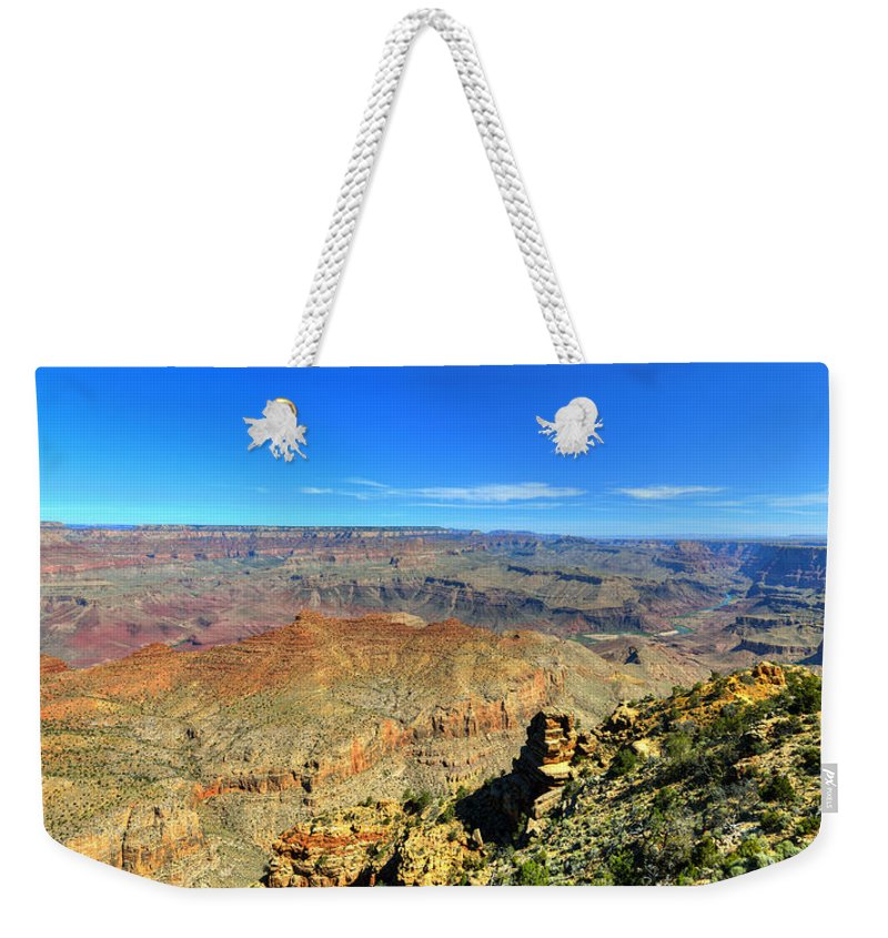Colorado River Weekender Tote Bag featuring the photograph Meandering by Darin Williams