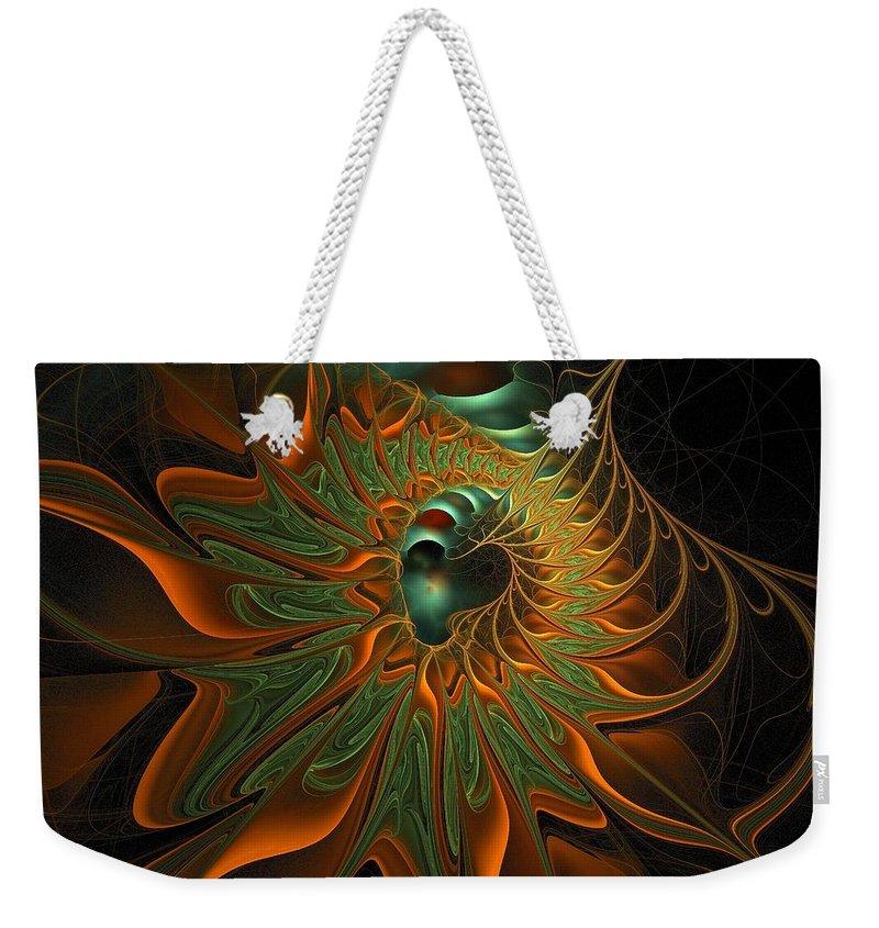 Digital Art Weekender Tote Bag featuring the digital art Meandering by Amanda Moore