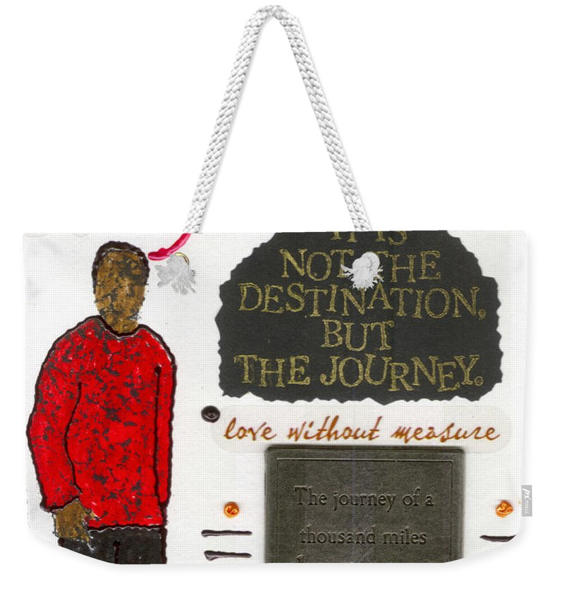 Gretting Cards Weekender Tote Bag featuring the mixed media Meaningful by Angela L Walker