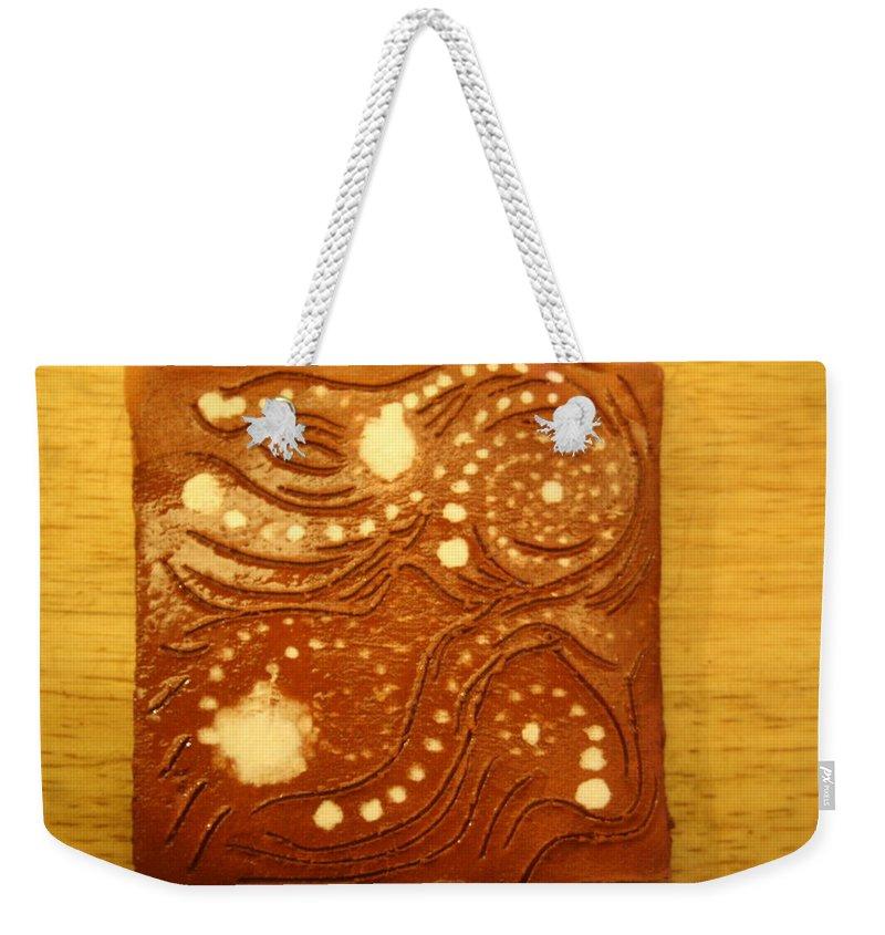 Jesus Weekender Tote Bag featuring the ceramic art Measures - Tile by Gloria Ssali
