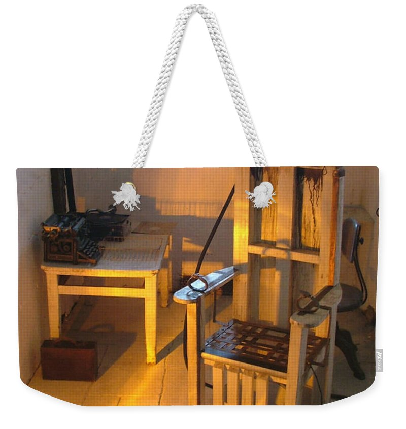 Halloween Weekender Tote Bag featuring the photograph Medical Room by Heather Lennox