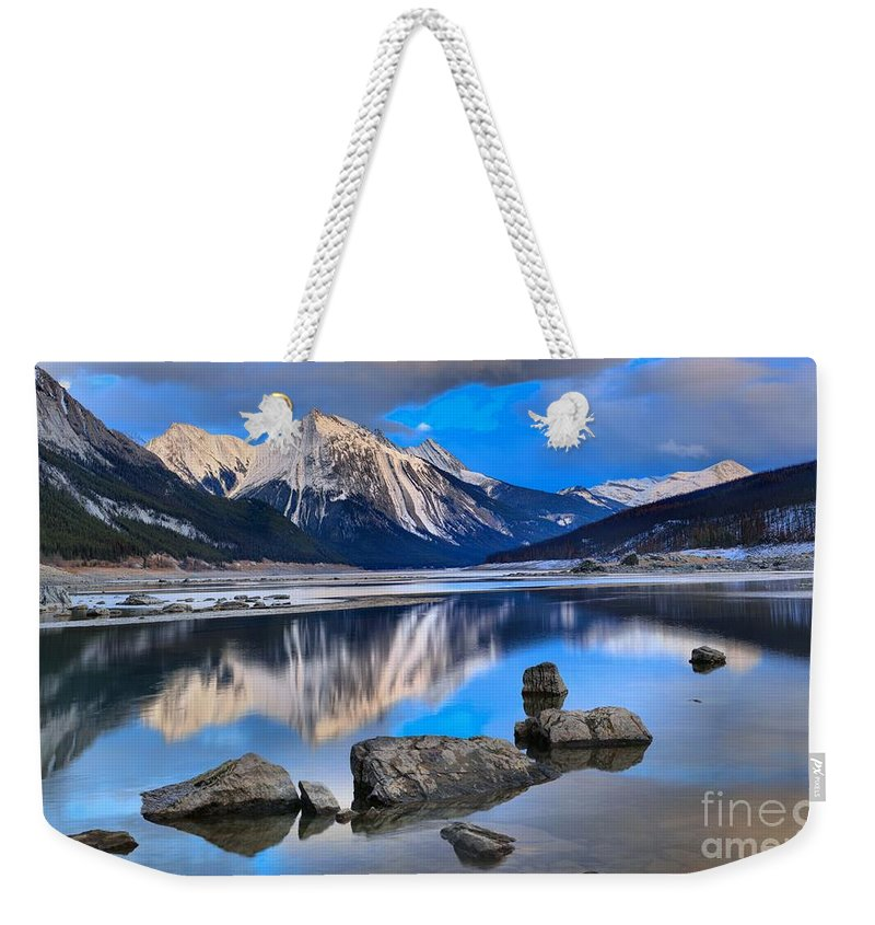 Medicine Lake Weekender Tote Bag featuring the photograph Medicine Lake by Adam Jewell