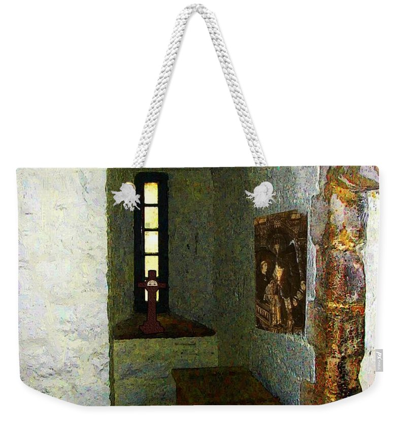 Medieval Weekender Tote Bag featuring the painting Medieval Monastic Cell by RC DeWinter