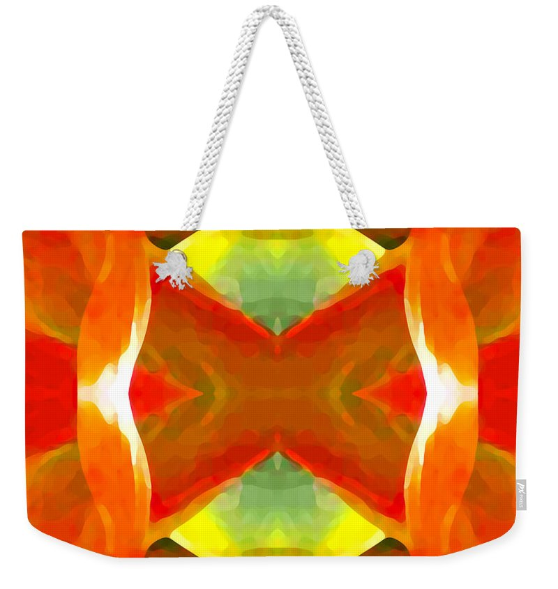 Abstract Weekender Tote Bag featuring the painting Meditation by Amy Vangsgard