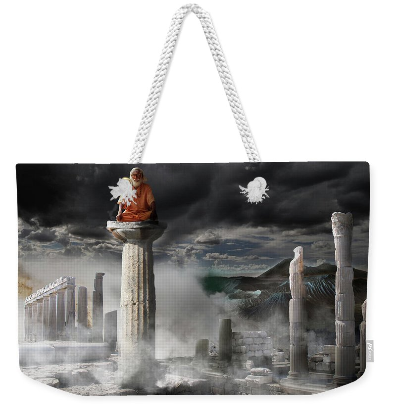 Meditation Weekender Tote Bag featuring the digital art Meditation by Dray Van Beeck