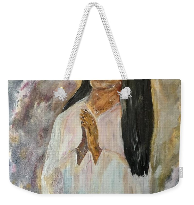 Meditate Weekender Tote Bag featuring the painting Meditation by J Michael Affolter