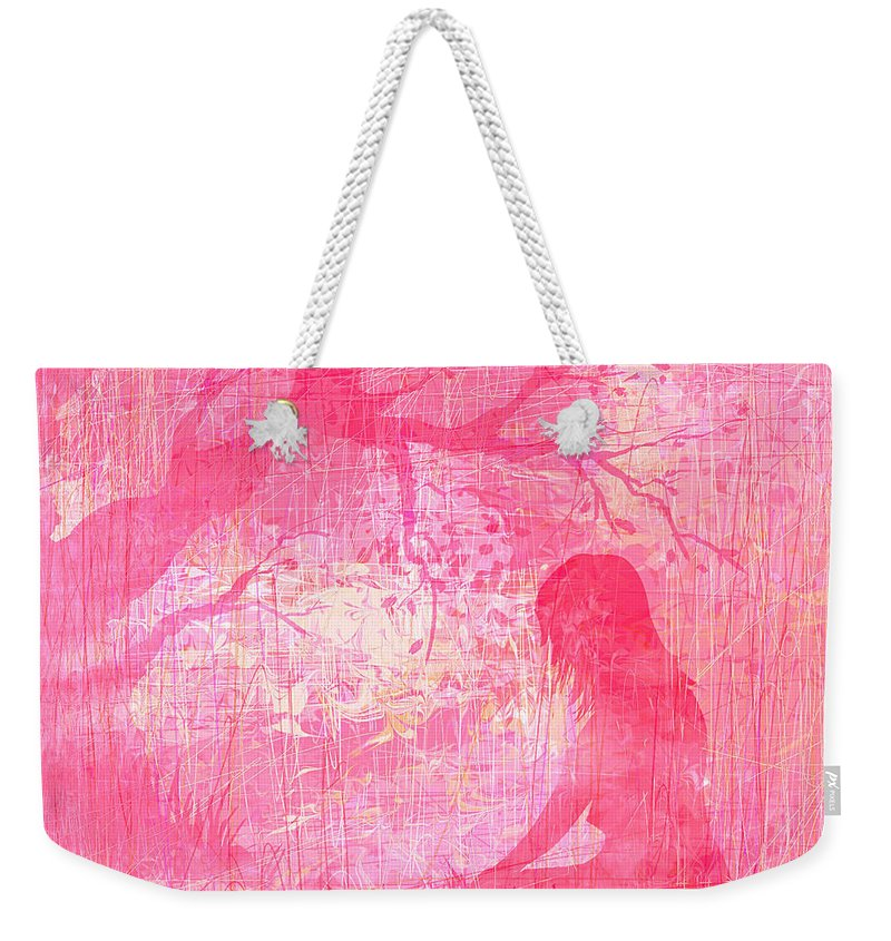 Abstract Weekender Tote Bag featuring the digital art Meditation by Rachel Christine Nowicki