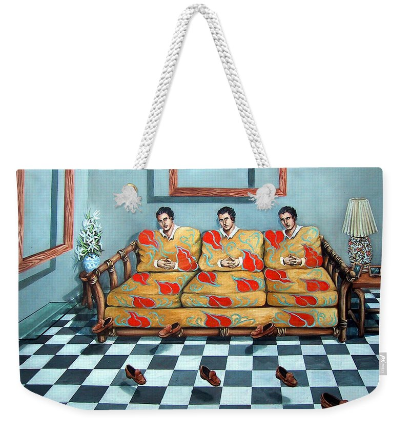 S Weekender Tote Bag featuring the painting Meditation by Valerie Vescovi