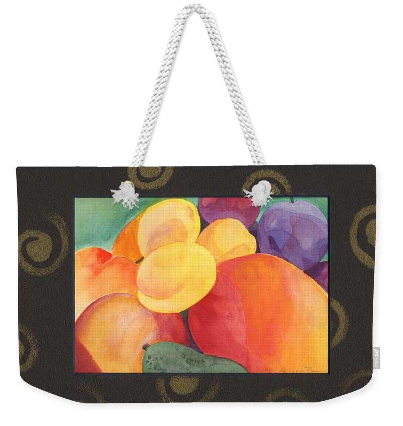 Fruit Weekender Tote Bag featuring the painting Medley by Helena Tiainen