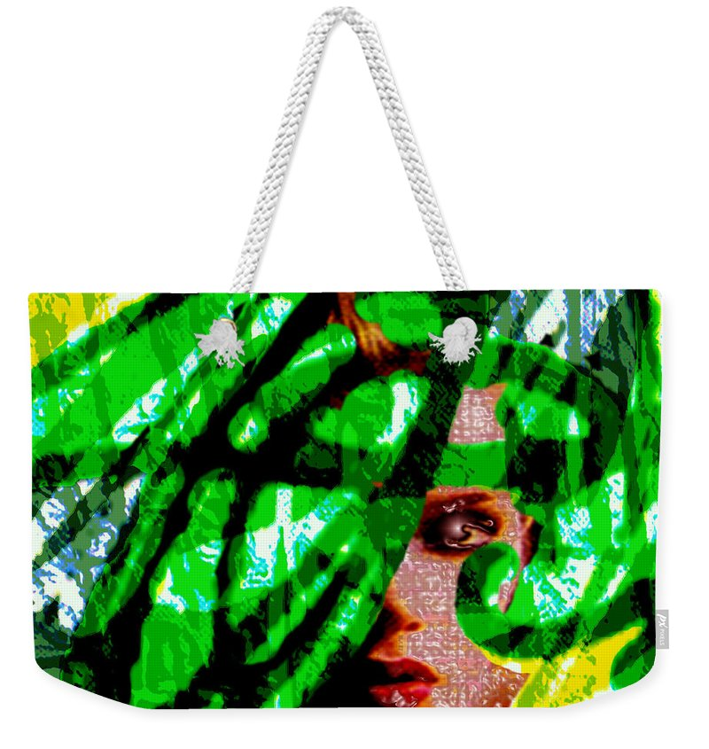Abstract Weekender Tote Bag featuring the digital art Medusa 1-26 by Seth Weaver