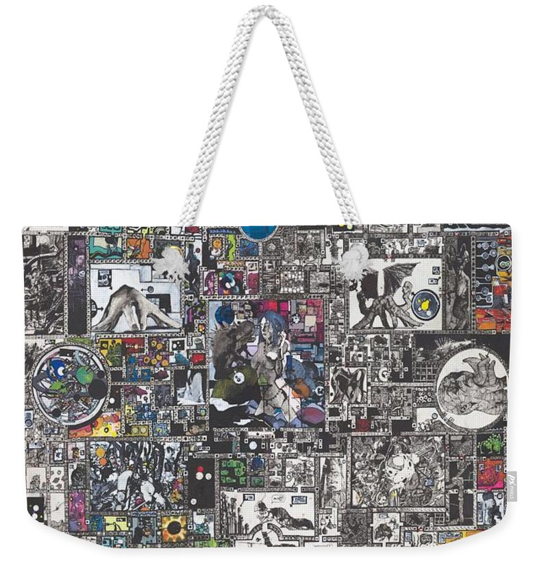 Zak Smith Weekender Tote Bag featuring the painting Medusa Maze by Zak Smith
