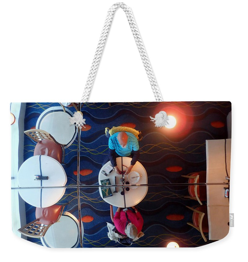 Mirror Weekender Tote Bag featuring the photograph Meeting Under A Mirror by Farol Tomson