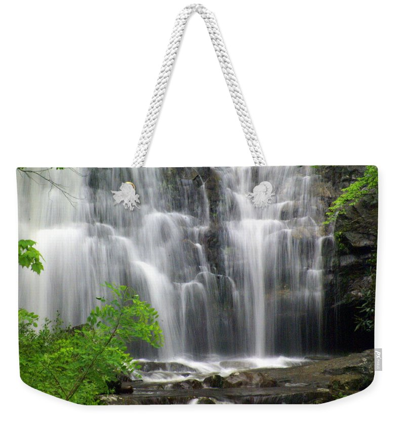 Meigs Falls Weekender Tote Bag featuring the photograph Meigs Falls 2 by Marty Koch