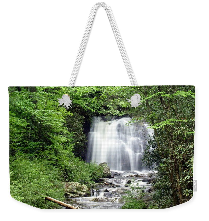 Meigs Falls Weekender Tote Bag featuring the photograph Meigs Falls by Marty Koch
