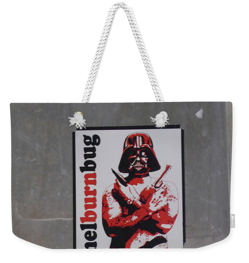 Graffiti Weekender Tote Bag featuring the photograph Melburnbug by Bruce