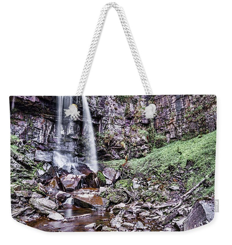 Melincourt Falls Weekender Tote Bag featuring the photograph Melincourt Falls by Steve Purnell