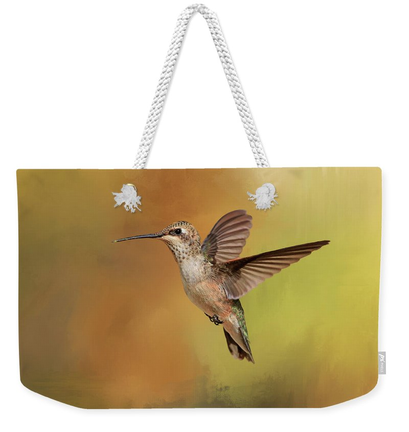 Hummingbird Weekender Tote Bag featuring the photograph Mellow Yellow by Donna Kennedy