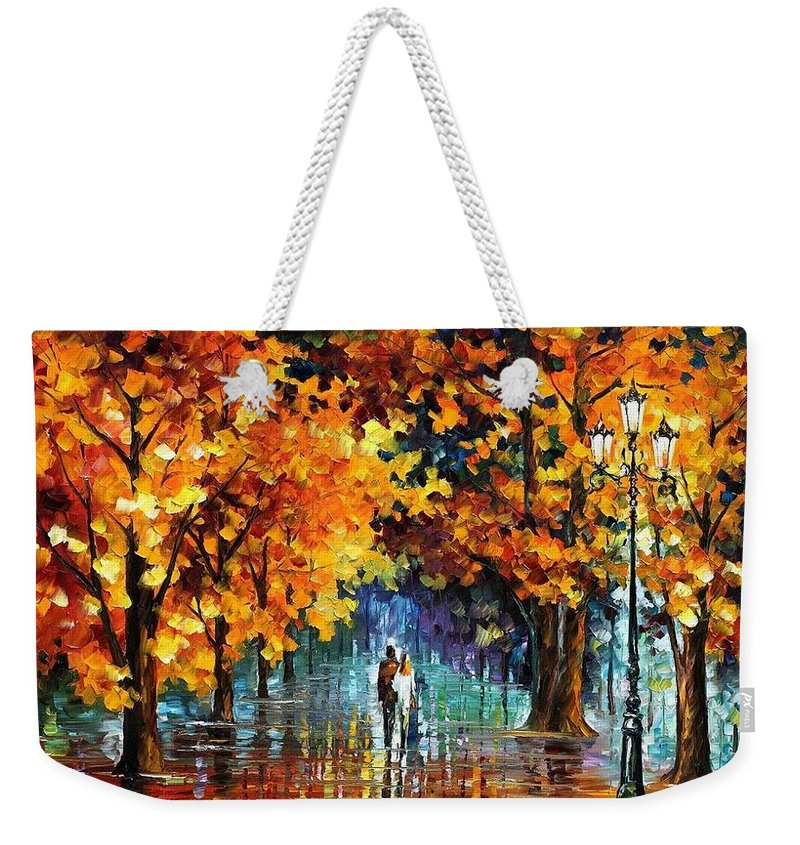Afremov Weekender Tote Bag featuring the painting Melodies From The Past by Leonid Afremov