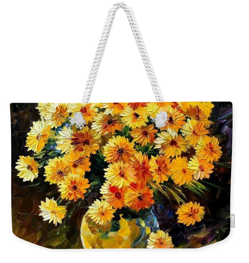 Still Life Weekender Tote Bag featuring the painting Melody Of Beauty by Leonid Afremov