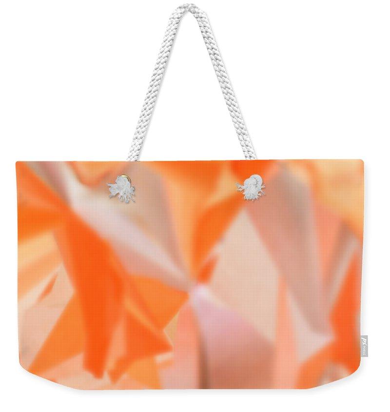 Artwork Weekender Tote Bag featuring the digital art Melon Flower Dance by Michelle BarlondSmith