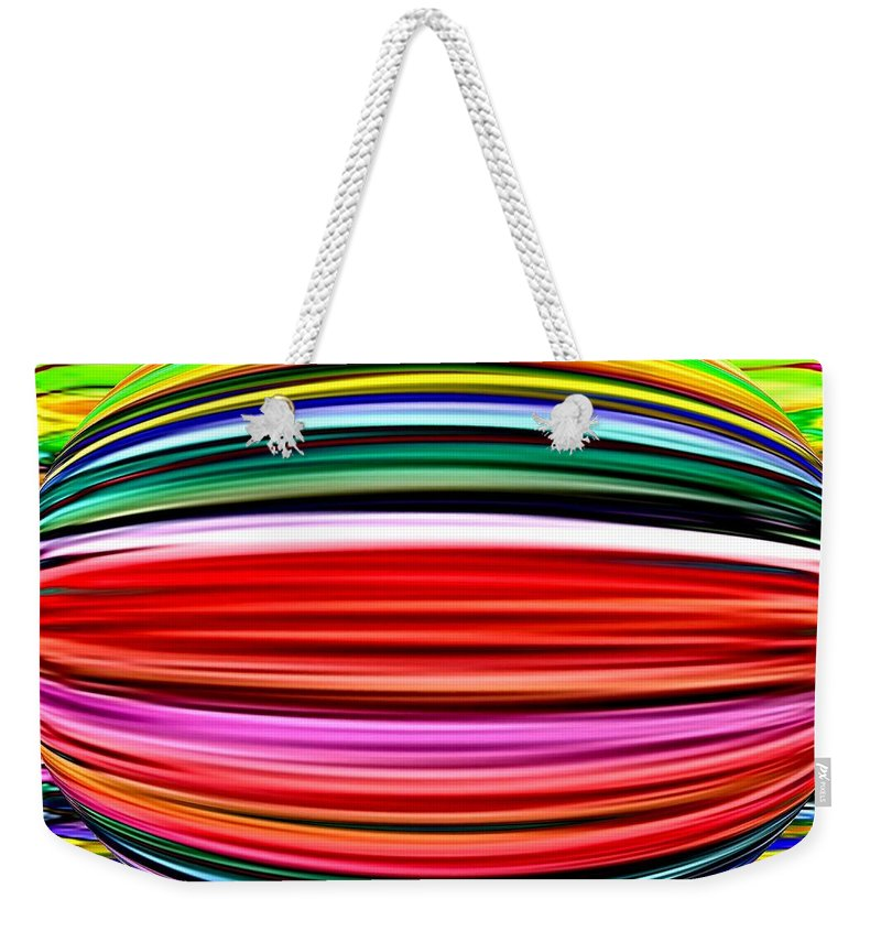 Abstract Weekender Tote Bag featuring the digital art Melon Mania by Will Borden