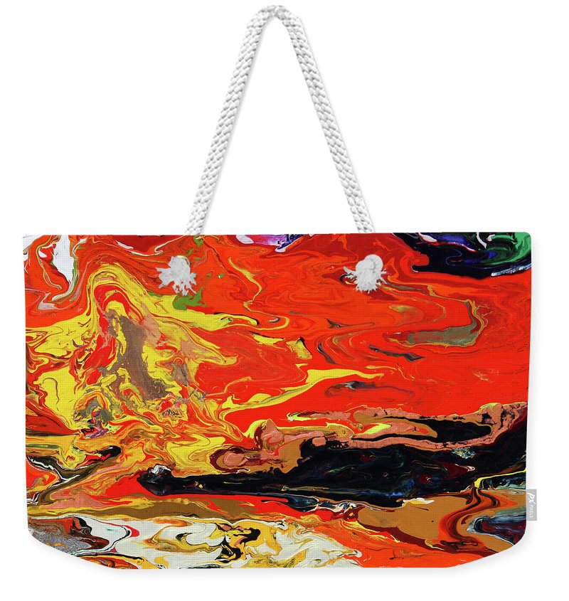 Fusionart Weekender Tote Bag featuring the painting Melt by Ralph White