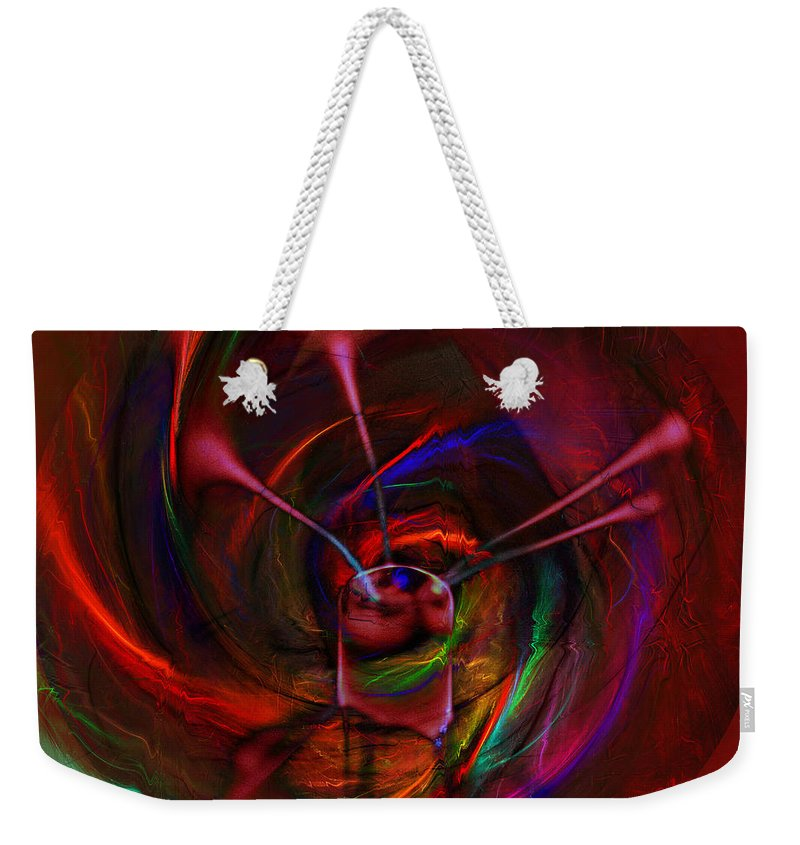 Abstract Weekender Tote Bag featuring the digital art Melted Magic by Diane Parnell