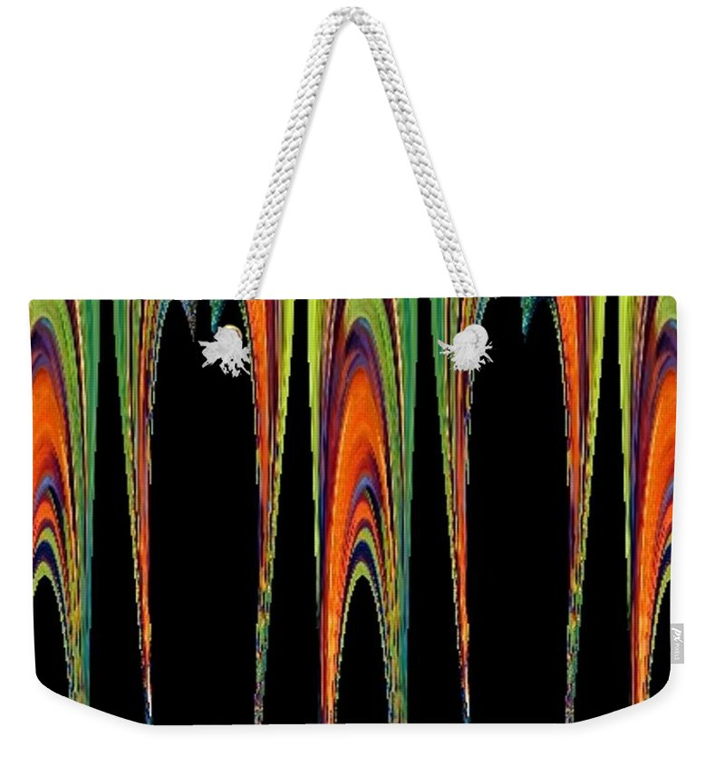 Colorful.abstract Weekender Tote Bag featuring the painting Melting Fusion by Vicki Lynn Sodora